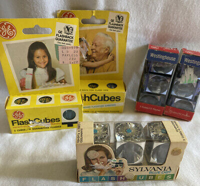 $15 • Buy Vintage GE, Sylvania & Westinghouse Flash Cube Lot