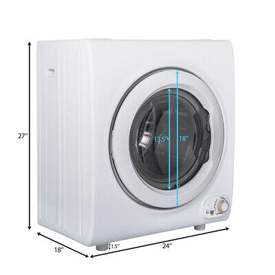 View Details 2.65 Cu.Ft Electric 9 LBS Clothes Tumble Dryer Compact Laundry Wall Mounted • 509.99$