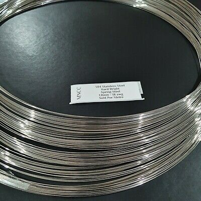 AU12.99 • Buy 1m-10m Hard Bright Stainless Steel Wire 1.0mm 18AWG Single Strand Spring Steel