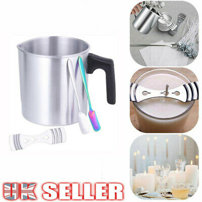 Handmade Candle Making Kit Candles Craft Tool Pouring Pot Wicks Wax Melting Pot • 11.59£