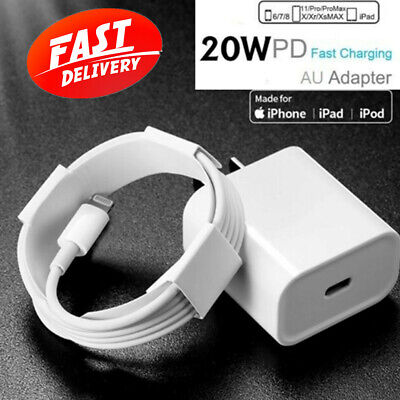 AU21.99 • Buy AU Plug PD 20W USB-C Type C Fast Wall Charger 2M Cable Adapter For IPhone 12 11