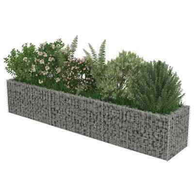 Galvanised Steel Gabion Wall With Cover Stone Basket Cage Landscape 270x50x50cm • 69.60£
