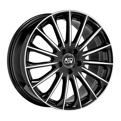 $389.31 • Buy ALLOY WHEEL MSW 30 BMW M5 441Kw STAGGERED REAR 9.5x19 5x112 ET 22 GLOSS BLAC 6e0