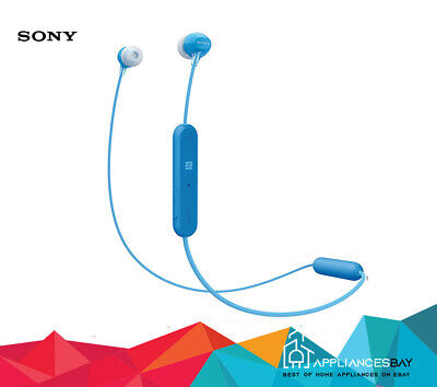Sony WI-C300 Wireless In-Ear Headphones With Bluetooth/NFC Blue New • 18.99£