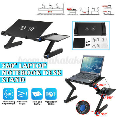 AU21.89 • Buy Adjustable Foldable Laptop Stand Portable Table Bed Sofa Desk Mouse Pad Tray