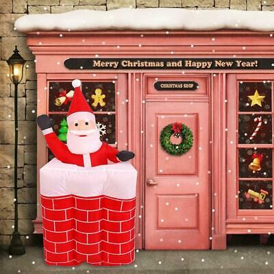 £36.99 • Buy Brand New 1.6m Santa Chimney Inflatable Toy Outdoor Xmas Decor Arch Ornament UK