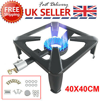 £20.99 • Buy Large Lpg Gas Burner Cooker Cast Iron Boiling Ring Camping Catering Restaurant S