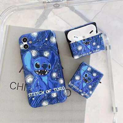 £4.80 • Buy 3D Lilo & Stitch Protective Case Cover For Apple Airpods 1 2 Pro IPhone 7 8 X 11