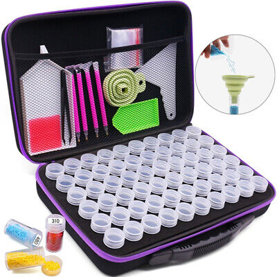 AU45 • Buy 60 Slots Diamond Painting Accessories Storage Box Embroidery Case Nail Art Beads