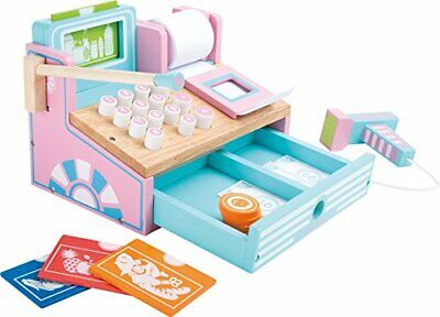 Wooden Pretend Play Toy Cash Register With Card Reader And Scanner • 28.99£