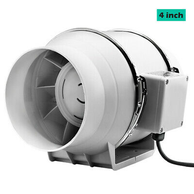 AU34.46 • Buy 4 Inch Silent Extractor Fan Duct Hydroponic Inline Exhaust Industrial Vent