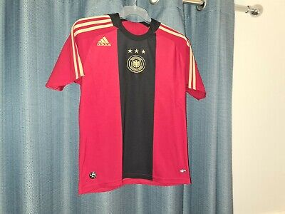 GERMANY ADIDAS National Football Shirt 2008 2009 S Away Soccer Jersey Red Top • 12.95£