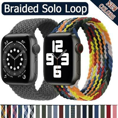 $ CDN7.56 • Buy Braided Solo Loop Strap For Apple Watch Band 44mm 40mm IWatch Bands Series6 SE 5