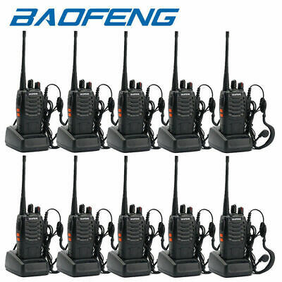 £23.32 • Buy 10pack Baofeng Bf-888s 400-470mhz Two Way Radio Walkie Talkie With Headsets Lot