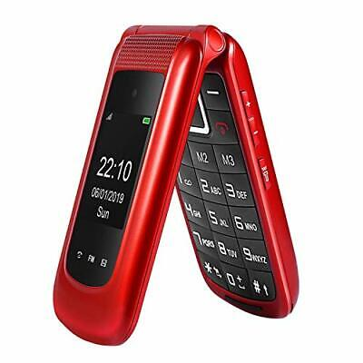 Big Button  Sim Free Unlocked Flip Mobile Phone For Elderly With SOS Button -Red • 49.99£