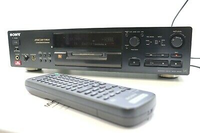 SONY MDS-JB930QS Minidisc MD Recorder / Player & Remote In BLACK ** SERVICED ** • 329£