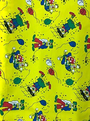 Clearance Sale 4 Metres Good Quality Clown Printed Woven Fabric 150 Cm Cheapest • 14.75£