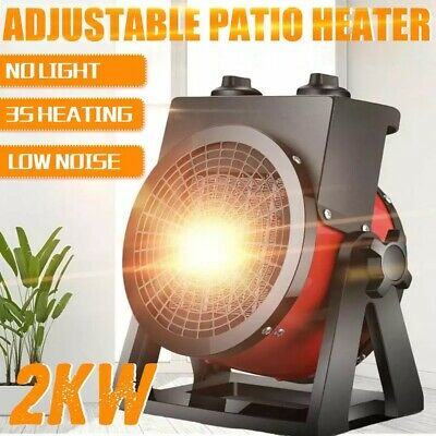 Patio Heater Stainless Steel Portable Home Outdoor Heat Lamp Adjustable Heater • 43.99£