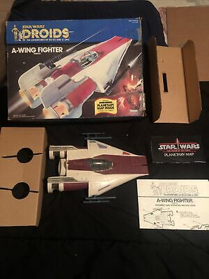 $ CDN721.33 • Buy Vintage Star Wars A-Wing Fighter 1984 Droids Complete See Pictures & Description