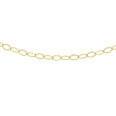 £21.78 • Buy TJC 9ct Yellow Gold Trace Belcher Chain Necklace Size 18