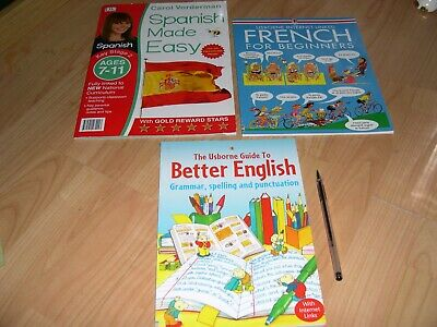 Learn Spanish/French/English Books • 6£