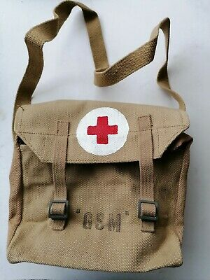 £39.95 • Buy British Army WW2-Style Non-Issue Military Webbing GSM Red Cross Medical Bag