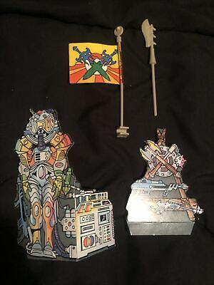 $42 • Buy MOTU Vintage Castle Grayskull Cardboard Cutouts Flag Weapon Original Parts Lot