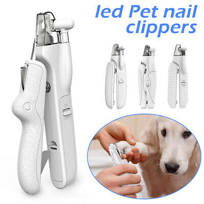 LED Lights Pet Nail Clippers Cat Dog Rabbit Sheep Animal Claw Trimmer Grooming • 9.59£
