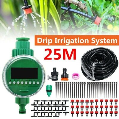 5-25M Automatic Drip Irrigation System Kit Plant+Timer Self Watering Garden Hose • 16.88£