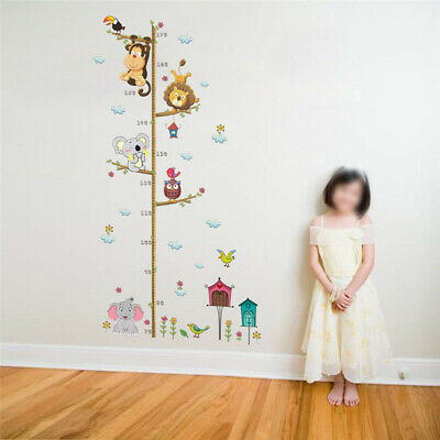 Jungle Animal Owl Lion Monkey Tree Decal Wall Sticker Childrens Bedroom • 5.14£