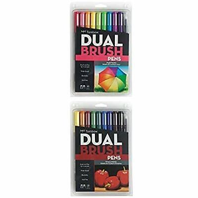 Tombow Dual Brush Pen Art Markers Bright 10-Pack Plus Dual Brush Pen Art Mark... • 31.29£