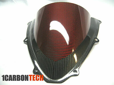 $149 • Buy 04-05 2004-2005 Suzuki Gsxr 600 750 Carbon Fiber Red Hybrid Windscreen