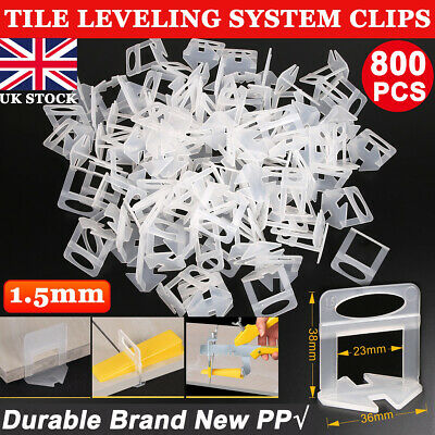 100PCS Tile Leveling System Clips Yellow Wedges Spacer Wall Floor Tiling Tool UK • 5.99£