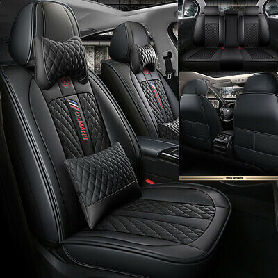 $ CDN175.98 • Buy Luxury 5-Seats Car Seat Cover PU Leather Front&Rear Auto Chair Cushion Universal