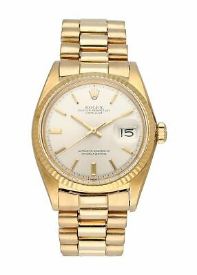 $ CDN12621.73 • Buy Rolex Datejust President 1601 Yellow Gold Mens Watch
