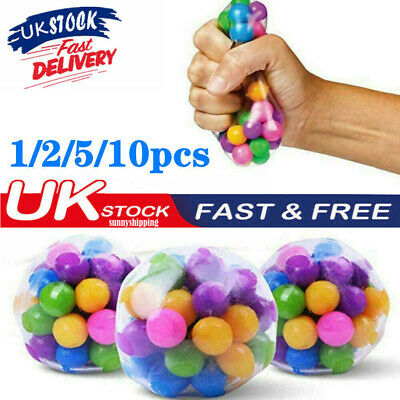 Sensory Stress Reliever Ball Toy Autism Squeeze Fidget Stress Anxiety Relief UK • 3.92£