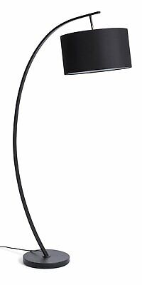 Habitat Clane Arch 160cm Foot Switch Floor Lamp - Black • 65£