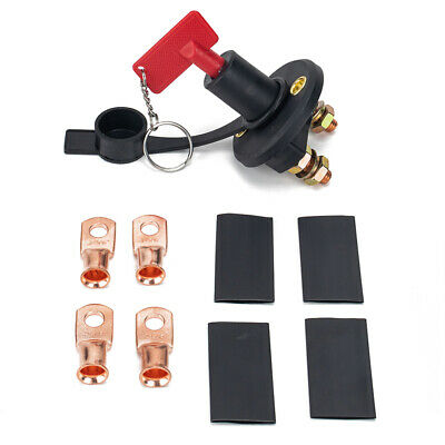 200A Car Battery Disconnect Cut Off Switch Isolator + Key + Wire Lug Set • 10.87£
