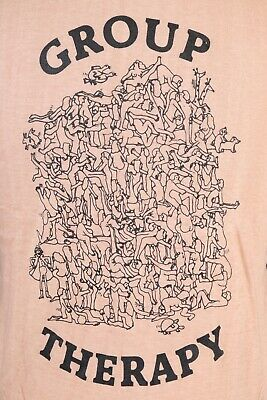 $ CDN158.12 • Buy Vintage 70s GROUP THERAPY Sex Orgy Erotica Punk T-Shirt DS Mens Size Medium