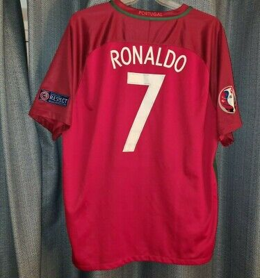 PORTUGAL Nike Football Shirt RONALDO 7 Soccer Jersey Euro 2016 XXL 2XL Top R7 • 49.95£