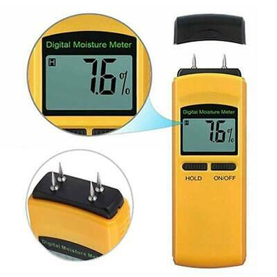 Moisture Meter 4 Pin Digital Meter Damp Detector Moisture Humidity Wood Plaster • 13.06£