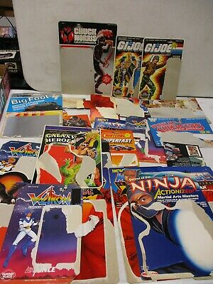 $ CDN63.42 • Buy Assorted Lot Of 1980's Action Figure Card Backs With GI Joe, Voltron, He-Man