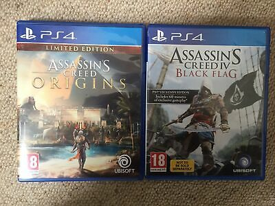 Assassins Creed Origins And Assassins Creed Black Flag PS4 • 11.50£