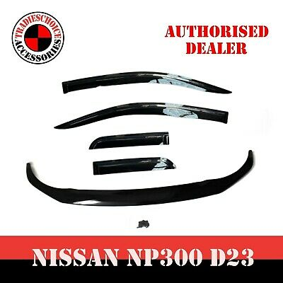 AU85.95 • Buy Bonnet Protector For Nissan Navara NP300 D23 2020 MY 2021 Guard Black Tinted NEW