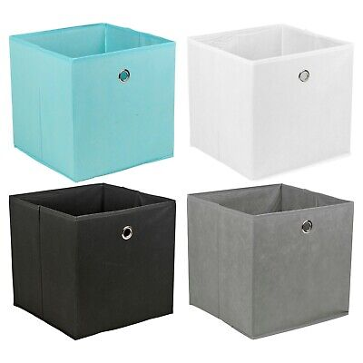 £12.49 • Buy Set Of 4 Foldable Non Woven Fabric Collapsible Storage Basket Different Colours