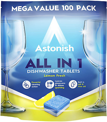 Astonish All In 1 Dishwasher Tablets, 100-Piece • 8.89£