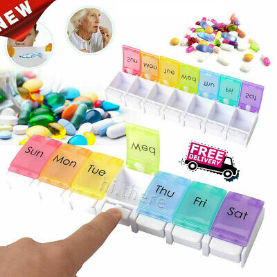 AU10.99 • Buy 7Day Protable Pill Box Medicine Tablet Dispenser Organiser Weekly Container Case