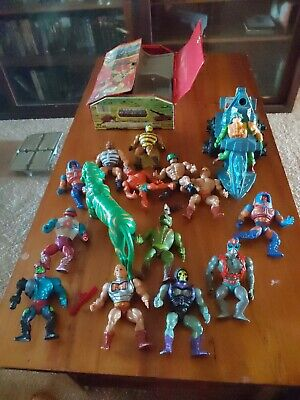$14.50 • Buy MOTU He-Man Masters Of The Universe Vintage Lot 1980s Figures Case Weapons