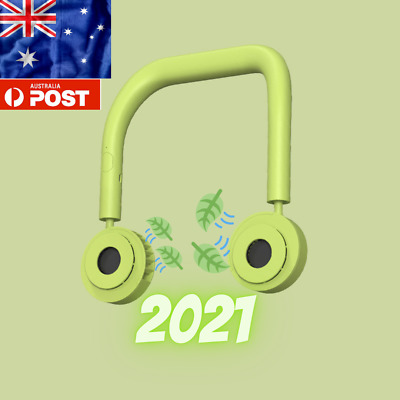 AU11.97 • Buy 2021Hanging Mini Neck Fan USB Rechargeable Travel Sports Lazy Portable Creative