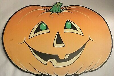 $ CDN17.79 • Buy Vintage Beistle Halloween Pumpkin Die Cut Jack O Lantern Decoration Window Wall